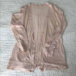 Linen tissue-weight cardigan